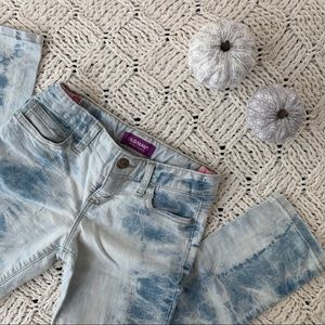 Old Navy | Girls Blue & White Tie Dye Skinny Jeans